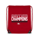Red Drawstring Backpack-2017 Womens Soccer Champions - Lined Design
