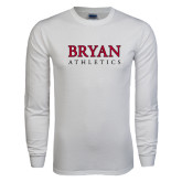 White Long Sleeve T Shirt-Bryan Athletics Stacked