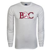 White Long Sleeve T Shirt-BC w/ Lion Head
