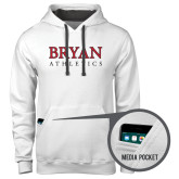 Contemporary Sofspun White Hoodie-Bryan Athletics Stacked