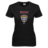 Ladies Black T Shirt-Bryan Fishing Champions
