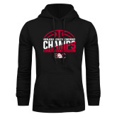 Black Fleece Hoodie-2017 Appalachian Athletics Conference Womens Basketball Champions - Half Ball