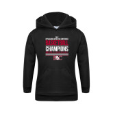 Youth Black Fleece Hoodie-2017 Appalachian Athletics Conference Womens Basketball Champions Stacked
