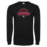 Black Long Sleeve T Shirt-2017 Womens Soccer Champions