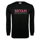 Black Long Sleeve TShirt-Bryan Athletics Stacked