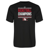 Syntrel Performance Black Tee-2017 Appalachian Athletics Conference Womens Basketball Champions Stacked