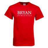 Red T Shirt-Bryan Athletics Stacked
