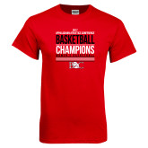 Red T Shirt-2017 Appalachian Athletics Conference Womens Basketball Champions Stacked