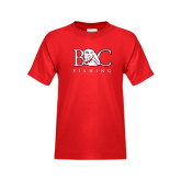 Youth Red T Shirt-Fishing