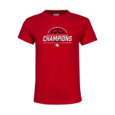 Youth Red T Shirt-2017 Womens Soccer Champions
