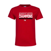 Youth Red T Shirt-2017 Womens Soccer Champions - Lined Design