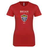 Next Level Ladies SoftStyle Junior Fitted Red Tee-Bryan Fishing Champions