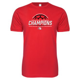 Next Level SoftStyle Red T Shirt-2017 Womens Soccer Champions