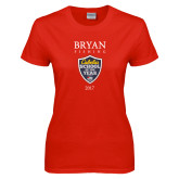 Ladies Red T Shirt-Bryan Fishing Champions