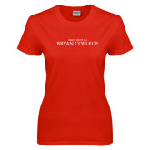 Ladies Red T Shirt-Christ Above All