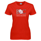 Ladies Red T Shirt-Track and Field - Cross Country