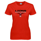 Ladies Red T Shirt-Track and Field Shoe Design