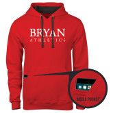 Contemporary Sofspun Red Hoodie-Bryan Athletics Stacked