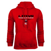 Red Fleece Hoodie-Track and Field Shoe Design