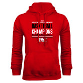 Red Fleece Hoodie-2017 Appalachian Athletics Conference Womens Basketball Champions Stacked