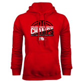 Red Fleece Hoodie-2017 Appalachian Athletics Conference Womens Basketball Champions - Half Ball