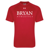 Under Armour Red Tech Tee-Bryan Athletics Stacked