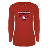 Ladies Syntrel Performance Red Longsleeve Shirt-2018 Back to Back Womens AAC Champions