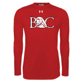 Under Armour Red Long Sleeve Tech Tee-BC w/ Lion Head