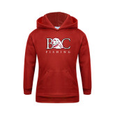 Youth Red Fleece Hoodie-Fishing