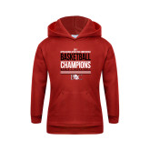 Youth Red Fleece Hoodie-2017 Appalachian Athletics Conference Womens Basketball Champions Stacked