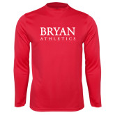 Syntrel Performance Red Longsleeve Shirt-Bryan Athletics Stacked