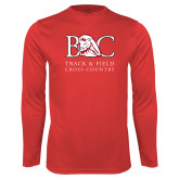 Performance Red Longsleeve Shirt-Track and Field - Cross Country