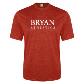 Performance Red Heather Contender Tee-Bryan Athletics Stacked