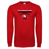 Red Long Sleeve T Shirt-2018 Back to Back Womens AAC Champions