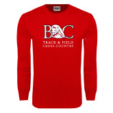 Red Long Sleeve T Shirt-Track and Field - Cross Country