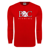Red Long Sleeve T Shirt-Fishing