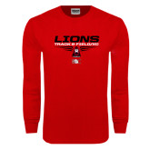 Red Long Sleeve T Shirt-Track and Field Shoe Design