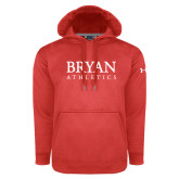 Under Armour Red Performance Sweats Team Hoodie-Bryan Athletics Stacked