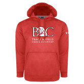 Under Armour Red Performance Sweats Team Hoodie-Track and Field - Cross Country