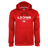 Under Armour Red Performance Sweats Team Hoodie-Lions Volleyball Half Ball