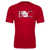 Performance Red Tee-BC w/ Lion Head
