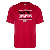 Syntrel Performance Red Tee-2017 Appalachian Athletics Conference Womens Basketball Champions Stacked