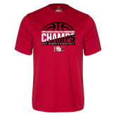 Syntrel Performance Red Tee-2017 Appalachian Athletics Conference Womens Basketball Champions - Half Ball