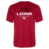 Performance Red Tee-Lions Volleyball Half Ball