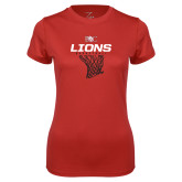 Ladies Syntrel Performance Red Tee-Primary Mark