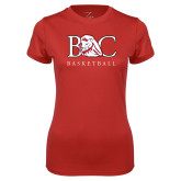Ladies Syntrel Performance Red Tee-Basketball