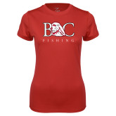 Ladies Syntrel Performance Red Tee-Fishing
