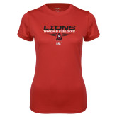 Ladies Syntrel Performance Red Tee-Track and Field Shoe Design