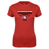 Ladies Syntrel Performance Red Tee-2018 Back to Back Womens AAC Champions