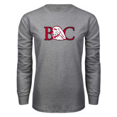 Grey Long Sleeve T Shirt-BC w/ Lion Head